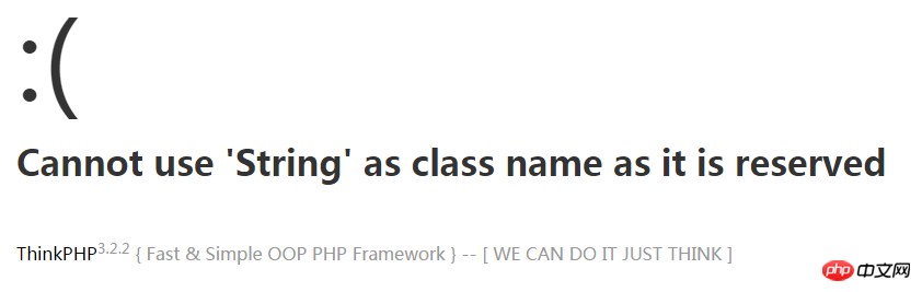 thinkphp在php7环境下提示Cannot use 'String' as class name as it is reserved的解决方法