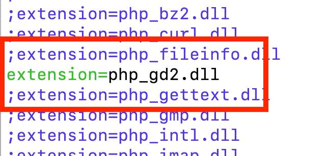 php遇到错误Call to undefined function ImageCreate()解决方法
